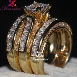 Princess Cut Jewelery 3 In 1 ring